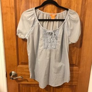 Joe Fresh Blue Peasant Blouse